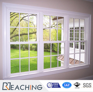Commercial Grade UPVC Vinyl Hung Window with Grills