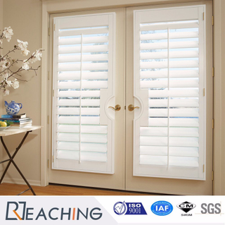 Beautiful White Color Shutter Window with Handle Factory Manufacturer